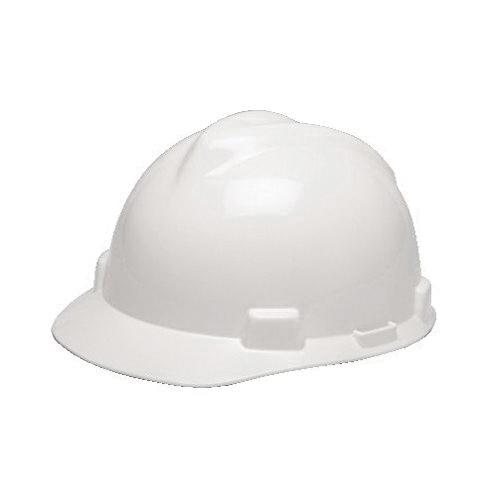 V-Gard® 475358 Front Brim Slotted Hard Hat - 4-Point Ratchet