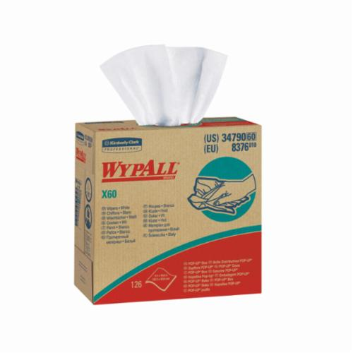 WypAll* 34790 High-Tech Disposable Wiper -  16.8 in L x 9.1 in W -  Hydroknit -  White