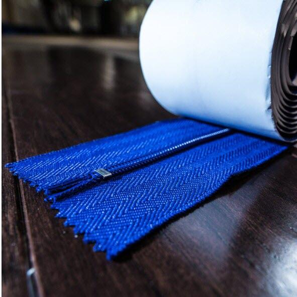 "Zip N Close Zippers® (ZC02) Self Adhesive Zippers, Blue, 3"" x 7', 2-Pack"