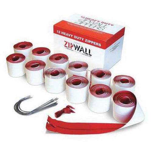 ZipWall® (HDAZ12) Heavy Duty Self-Adhesive Zipper, 12-Pack