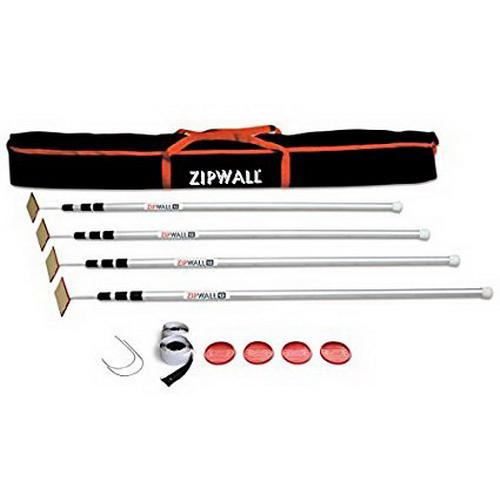 ZipWall® (SLP4) 12' Spring-Loaded Dust Barrier Poles, 4-Pack