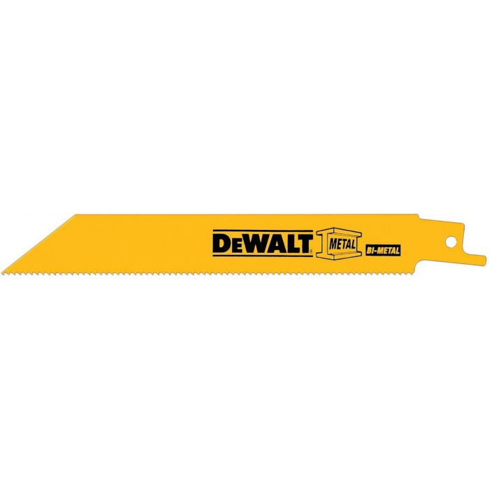 DeWALT® 18 TPI Straight Back Bi-Metal Reciprocating Saw Blade, 12