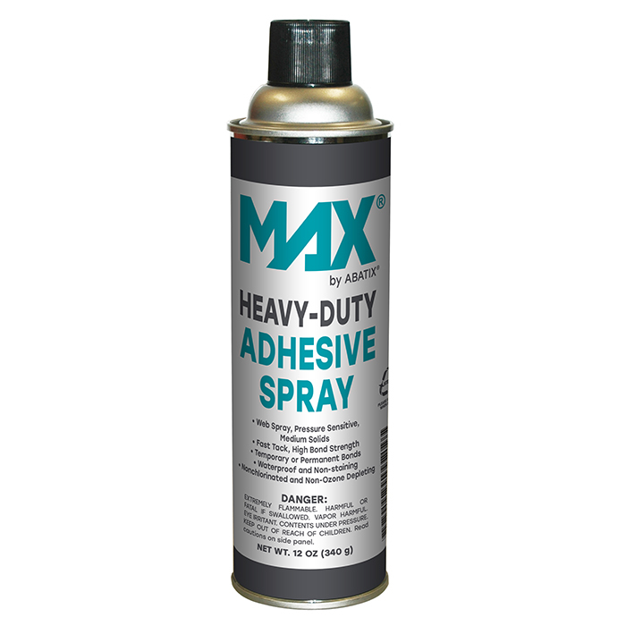 MAX®Heavy Duty Adhesive Spray - 12 cans per case - Web Spray - Pressure Sensitive - Medium Solids - Waterproof - Non-Staining