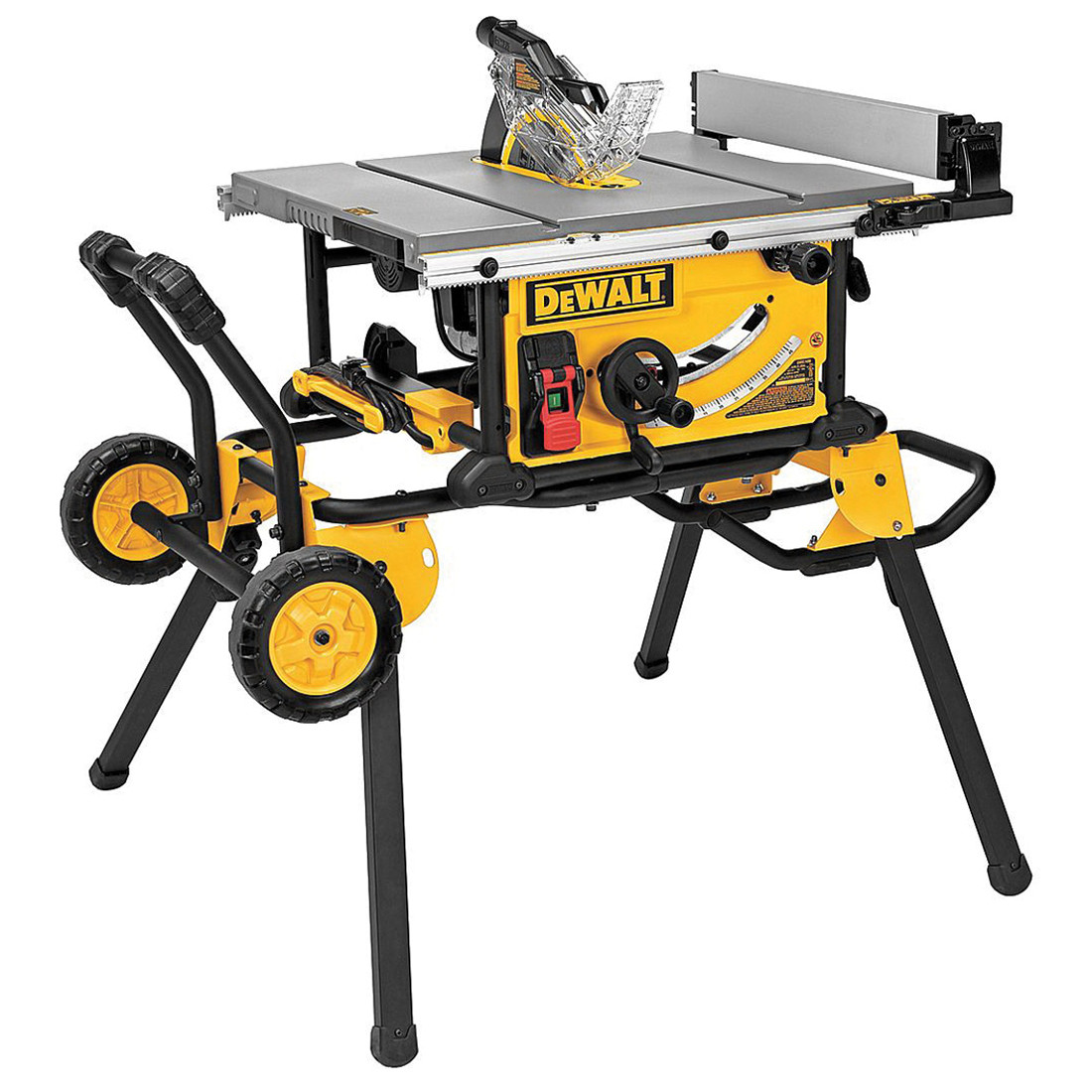 """DeWALT® 10"""" Jobsite Table Saw 32-1/2"""" Rip Capacity with Rolling Stand"""
