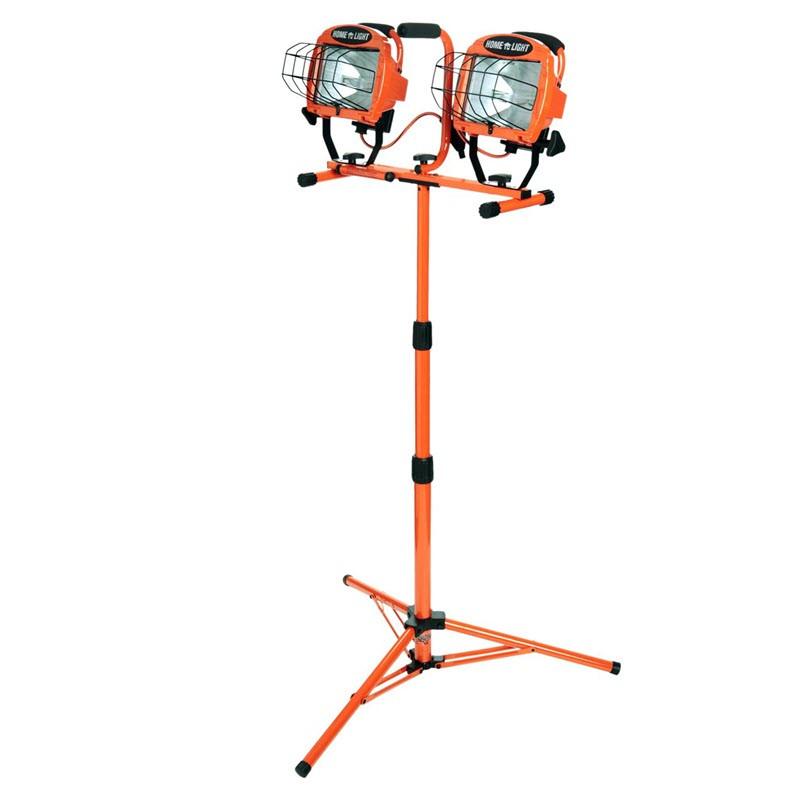 Coleman Cable Work Light, 1000 Watt Tungsten Halogen Lamp, 125V