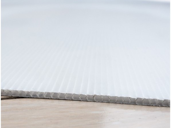 """Corrugated Plastic Sheeting, Fire Resistant, 4 mil, 48"""" x 96"""", White"""