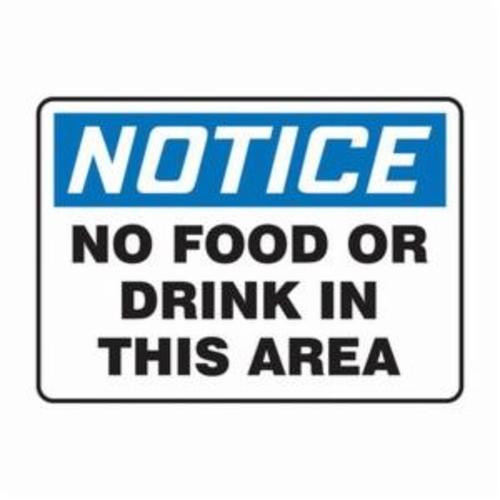 OSHA Notice Safety Sign: No Food Or Drink In This Area