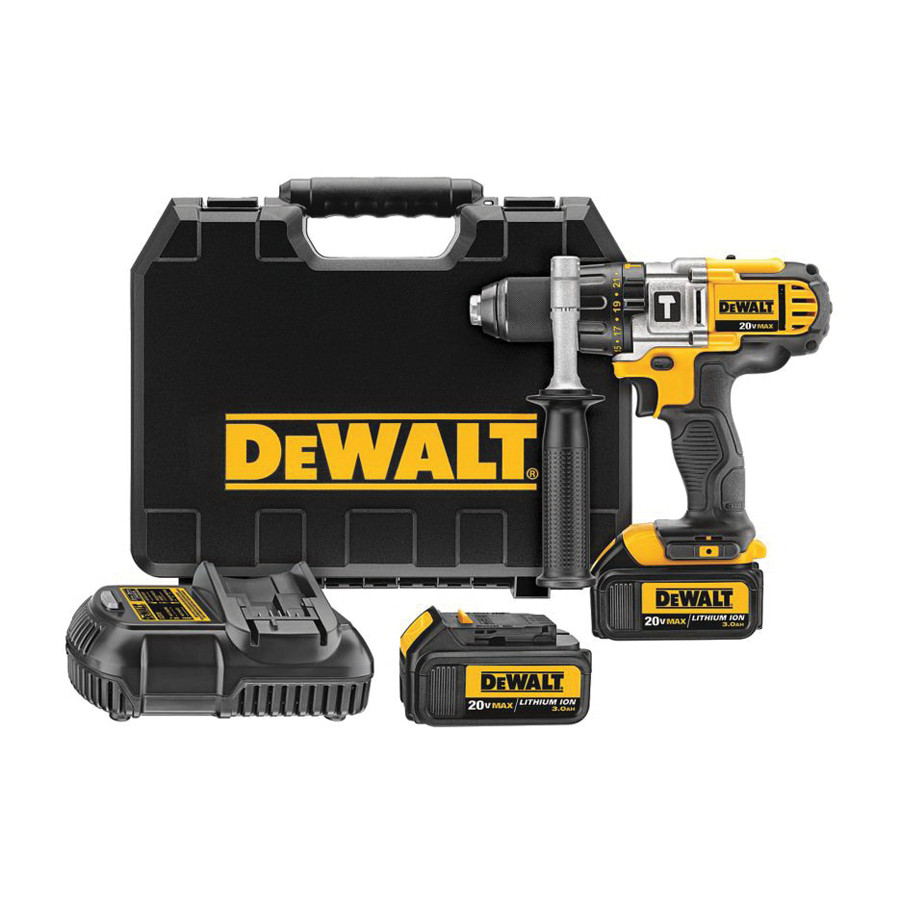 Dewalt 20v Max Lithium Ion Premium 3 Speed Hammerdrill Kit 4 0ah