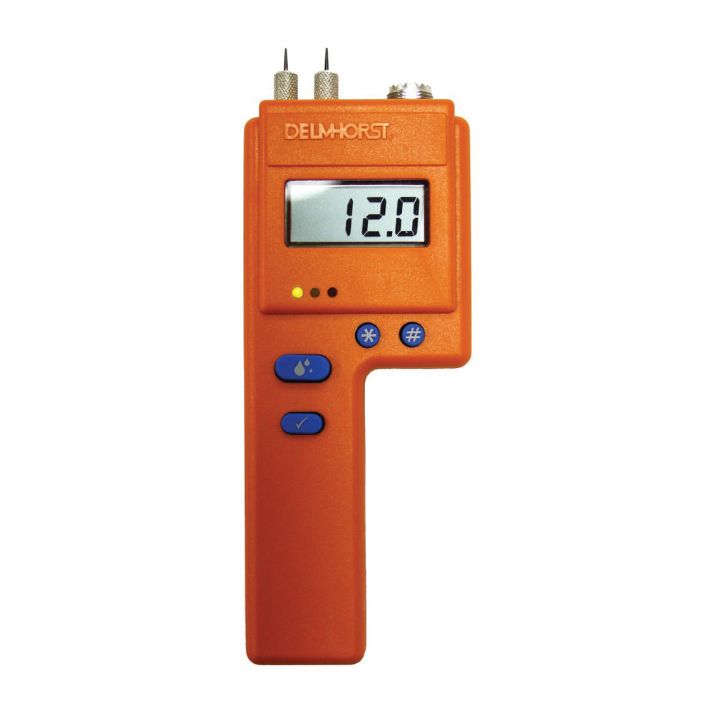Delmhorst® BD-2100 Moisture Meter With 21E Probe and Case -  6 - 40% Wood Scale -  0.2 - 50% Gypsum Scale Moisture Content