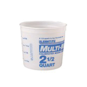 Leaktite™ 5M3 Multi-Mix Container -  2-1/2 qt -  6-3/4 in W x 6-1/8 in D -  High Density Polyethylene -  Clear