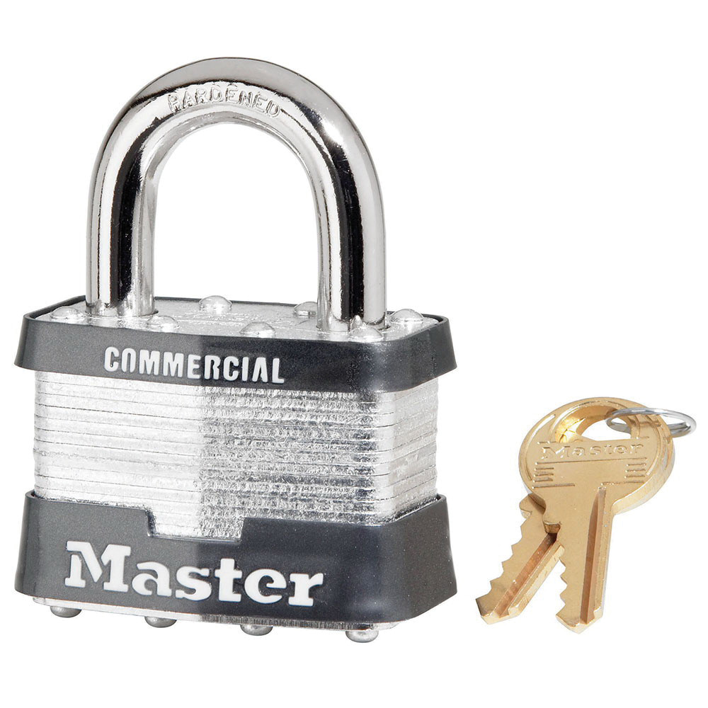 Master Lock® 5KA-A445 Commercial Grade Non-Rekeyable Safety Padlock