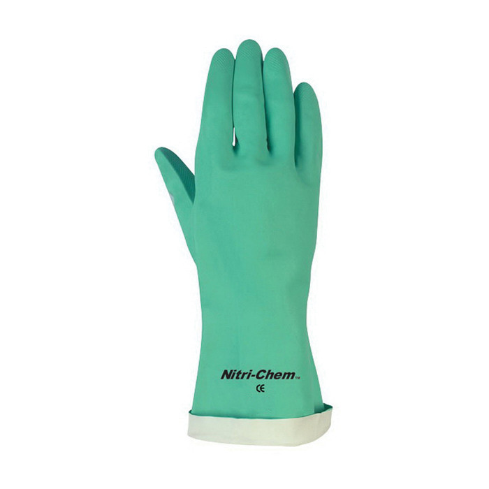 Memphis 5338S Industrial Grade Unsupported Chemical Resistant Gloves -  M -  Nitrile Palm -  Green -  Nitrile