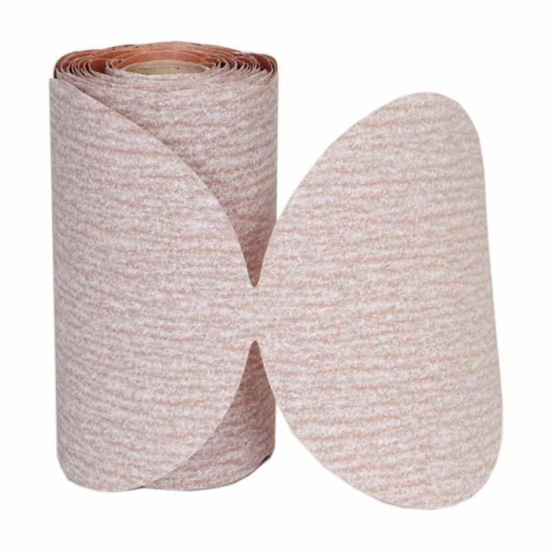 Norton® 66261131456 Light Weight PSA Coated Disc Roll -  5 in Dia -  No Hole -  320 Grit -  Very Fine Grade