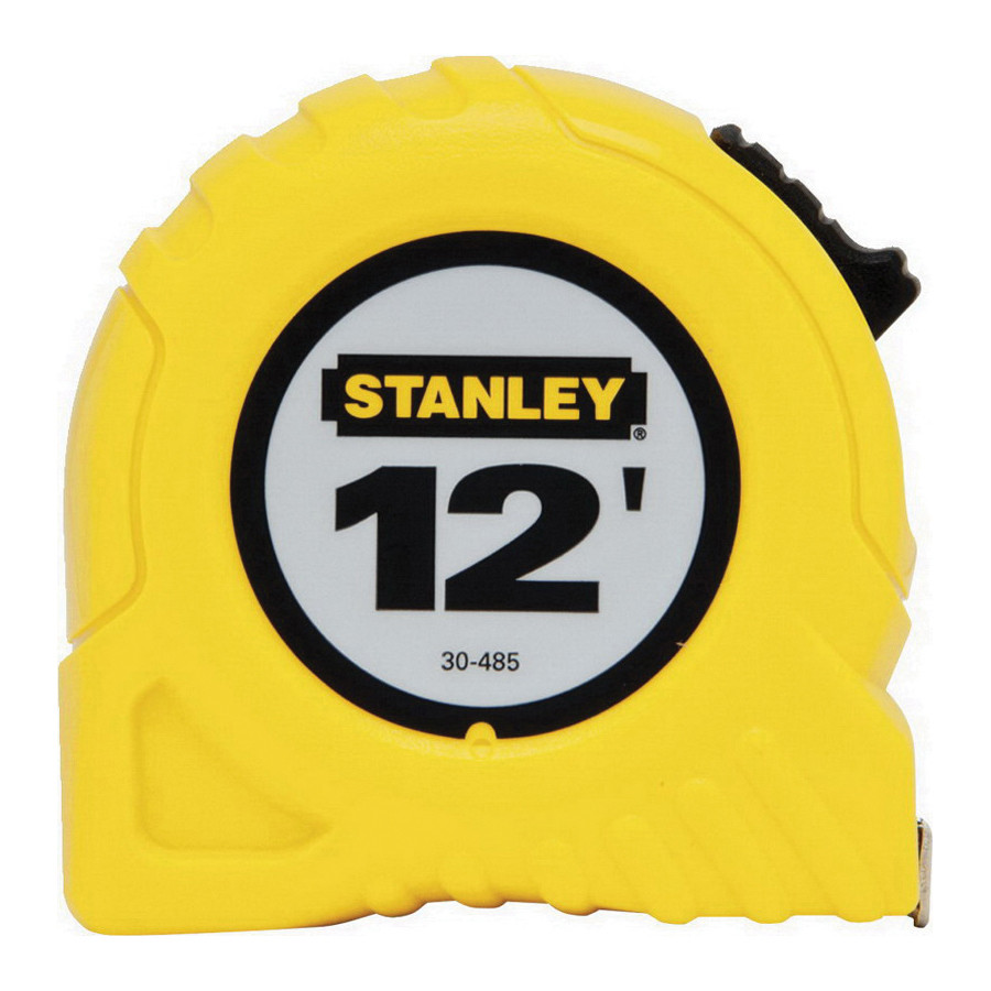 Stanley® 30-485 Tape Rule -  1/2 in W x 12 ft L Blade -  Polymer Coated Steel -  Imperial -  1/16ths -  1/32nds