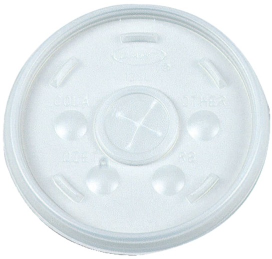 Straw-Slotted Lids, for use with Dart 16J16 cups