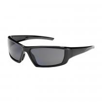 Bouton® Sunburst™ Safety Glasses, Black Frame, Gray Lens, Anti-Scratch/Anti-Fog Coat
