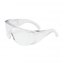 Bouton® The Scout™ OTG Rimless Safety Glasses with Clear Temple and Clear Lens