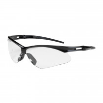 Bouton® Anser™ Semi-Rimless Safety Glasses, Black Frame, Clear Lens,  Anti-Scratch Coat