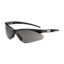 Bouton® Anser™ Semi-Rimless Safety Glasses, Black Frame, Gray Lens,  Anti-Scratch Coat