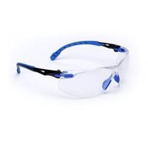 3M™ Solus™ 1000-Series Safety Glasses, Black/Blue Frame, Clear AF Lens