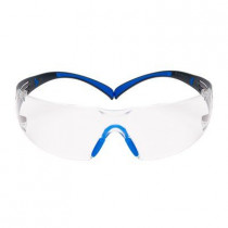 3M™ SecureFit™ Safety Glasses, Blue/Black Frame, Clear Scotchgard™ Anti-Fog Lens