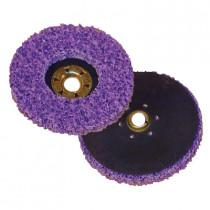 3M™ Scotch-Brite™ CX-DN Quick-Change Clean and Strip Disc - 7 in Dia - 5/8-11 - Silicon Carbide Abrasive - Purple