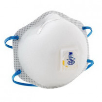 3M™ Disposable Particulate Respirator w/ Cool Flow™ Exhalation Valve and Adjustable M-Nose Clip - Standard