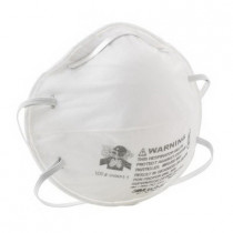 3M™ 8240 Comfortable Light Weight Particulate Respirator w/ Adjustable Nose Clip 120 per CS - Standard - R95 - 95% - White