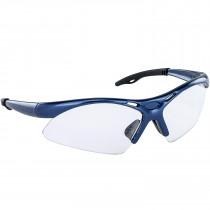 SAS® Diamondbacks Safety Glasses, Blue Frame, Anti-Fog Clear Lens