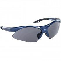 SAS® Diamondbacks Safety Glasses, Blue Frame, Anti-Fog Gray Lens