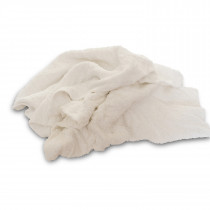 Turkish Towel Cleaning Cloths, White, 10 lb Bag