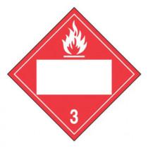 Blank DOT Placard: Hazard Class 3 - Flammable Liquid