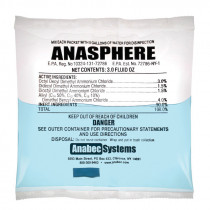 Anabec ANA2000 Disinfectant -  3 oz Packet -  Faint Ammonia -  Liquid -  Clear Blue
