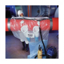 Avail™ 016182106 QuickTwist Asbestos Glovebag 10 per CS -  114 in L x 66 in W -  Horizontal -  Fits Pipe Size 14 - 18 in Dia -  2
