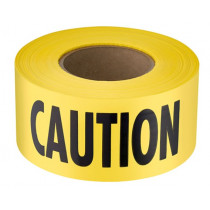 """Barrier Tape, CAUTION, Yellow/Black, 3""""x1000'"""