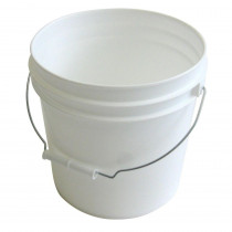 Pail 2 Gal Plastic No LidwhiteWith Handle