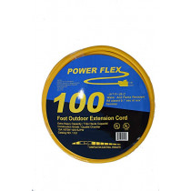 Construction Electrical Products - Power Flex 100' Outdoor Extension Cord, 10/3 SJTW U-Ground