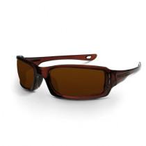 CrossFire® M6A Premium Safety Eyewear, Crystal Brown Frame, Silver Mirror on Brown Lens