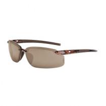 CrossFire® ES5 Premium Safety Eyewear, Crystal Brown Frame, HD Brown Flash Mirror Lens