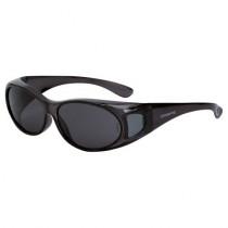 CrossFire® OG3 Over the Glass Safety Eyewear, Crystal Black Frame, Smoke Lens, S/M Size