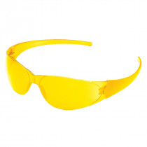 MCR Safety CK1 Series Safety Glasses, Scratch-Resistant Amber Lens
