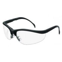 MCR Safety Klondike® KD1 Safety Glasses, Black Frame, Clear Anti-Fog Lens