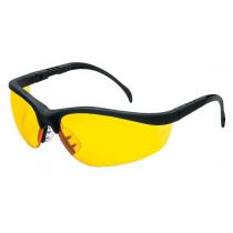 MCR Safety Klondike® KD1 Safety Glasses, Black Frame, Amber Lens