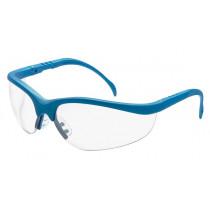 MCR Safety Klondike® KD1 Safety Glasses, Black Frame, Blue Frame, Clear Lens