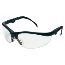 MCR Safety Klondike® KD3 Safety Glasses, Black Frame, Clear Anti-Fog Lens