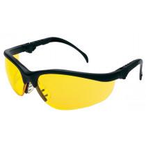 MCR Safety Klondike® KD3 Safety Glasses, Black Frame, Amber Lens