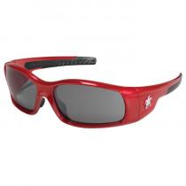 Swagger® SR1 Series Safety Glasses, Red Full Frame, Gray AF Lens