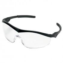 MCR Safety ST1 Series Safety Glasses, Black Frame, Clear UV-AF Anti-Fog Lens