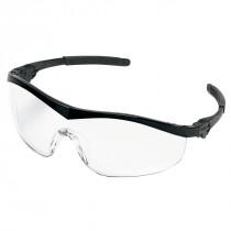 MCR Safety ST1 Series Safety Glasses, Black Frame, Clear Lens