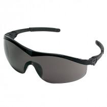 MCR Safety ST1 Series Safety Glasses, Black Frame, Gray Lens